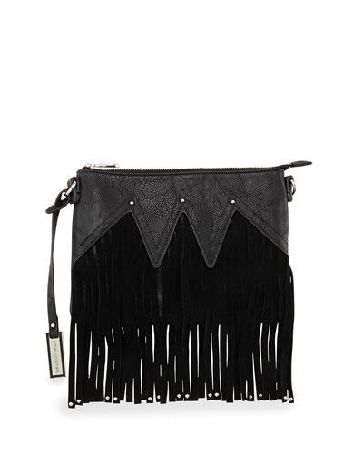Lover Fringed Clutch Bag, Black