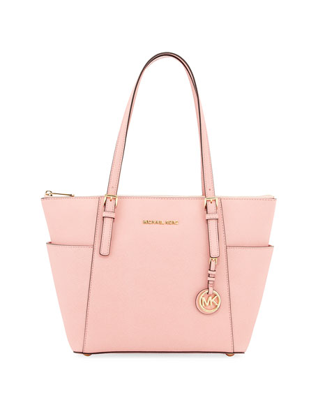 Jet Set Saffiano Tote Bag Pale Pink
