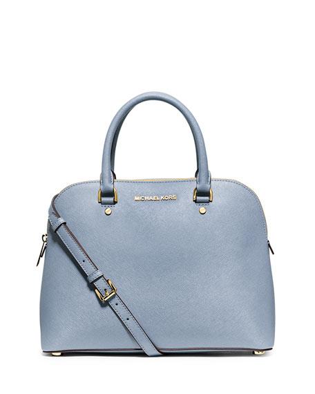4218f1aceaecd MICHAEL Michael Kors Cindy Large Dome Satchel Bag