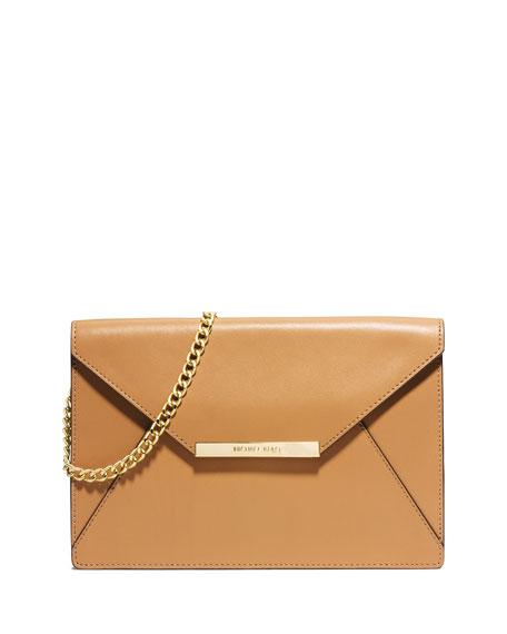 ba848830a52d52 MICHAEL Michael Kors Lana Envelope Clutch Bag, Peanut
