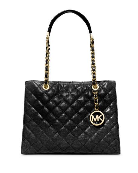 1e754eaec341 Michael Kors Black Quilted Handbag - Foto Handbag All Collections ...