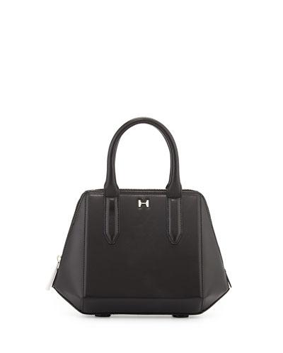 Baby Leather Satchel Bag, Black