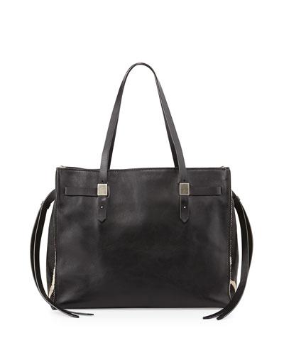 Lazar Leather & Zebra-Print Tote Bag