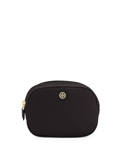 Double Zip Cosmetic Bag, Black