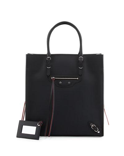 Paper A5 Zip Around Tote Bag, Black