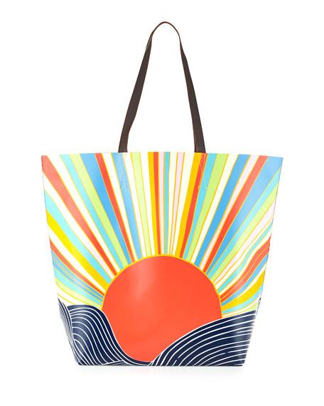 Sun Print Vinyl Tote Bag Misun