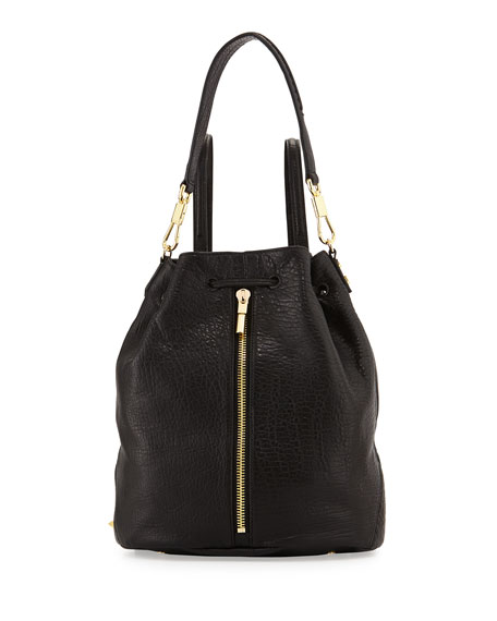 Cynnie Leather Sling Bag Black