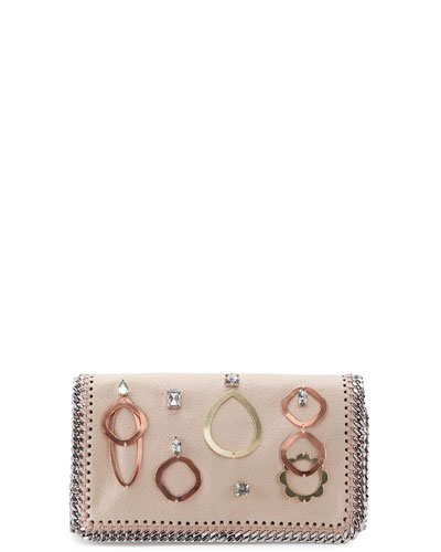 Falabella Embellished Crossbody Bag, Powder