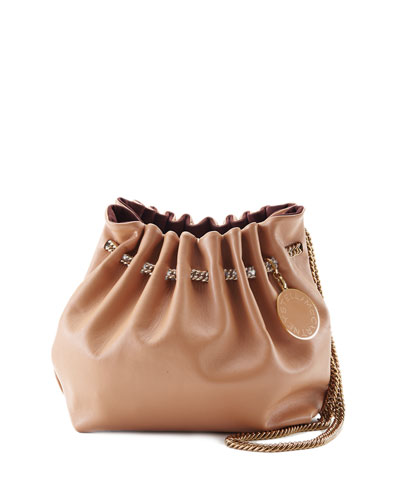 Noma Soft Shoulder Bucket Bag, Nude