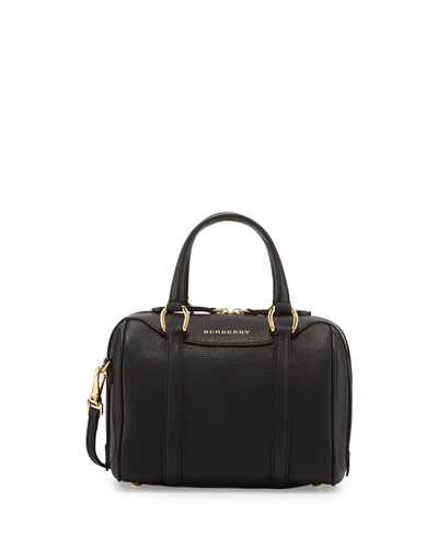 Alchester Derby Small Leather Satchel Bag, Black