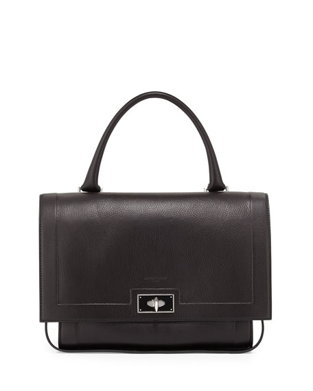 559a0b136a Givenchy Shark Small Waxy Leather Shoulder Bag