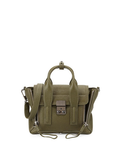 Pashli Mini Satchel Bag, Military