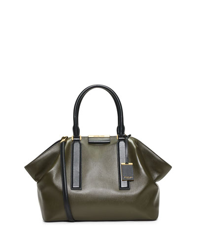 Lexi Large East-West Satchel Bag, Olive