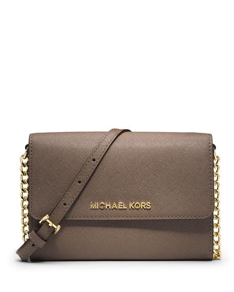 96eb58138814 MICHAEL Michael Kors Jet Set Travel Crossbody Phone Case/Wallet, Dark Dune