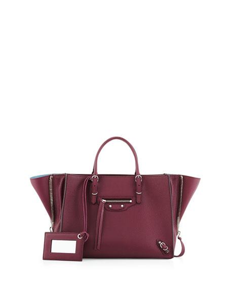 7f4de6dfd81 Balenciaga Papier A6 Mini Leather Tote Bag, Cassis/Bordeaux