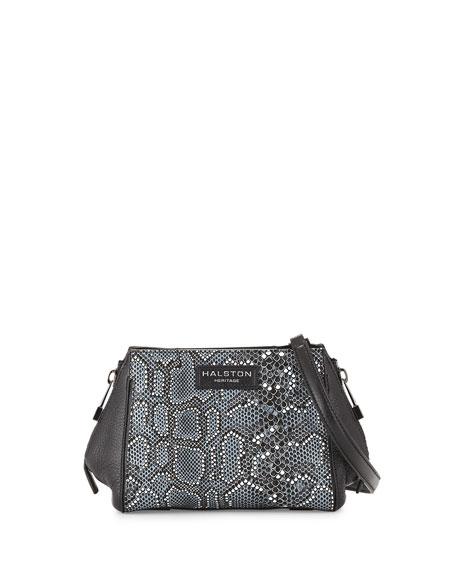 b7af97495dd9 Halston Heritage Mosaic Python-Embossed Leather Crossbody Bag