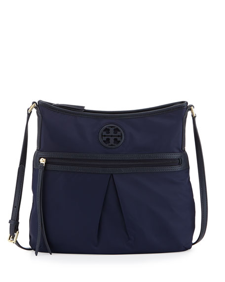 Nylon Swing Pack Crossbody Bag Tory Navy