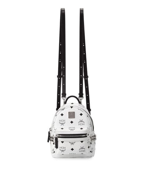 5f5649357545 MCM Stark X-Mini Side Stud Backpack, White
