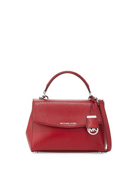 b64701f8de38 MICHAEL Michael Kors Ava Small Leather Satchel Bag, Cherry