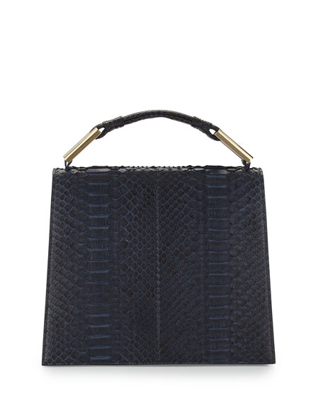 Charlotte Origami Python Leather Handbag