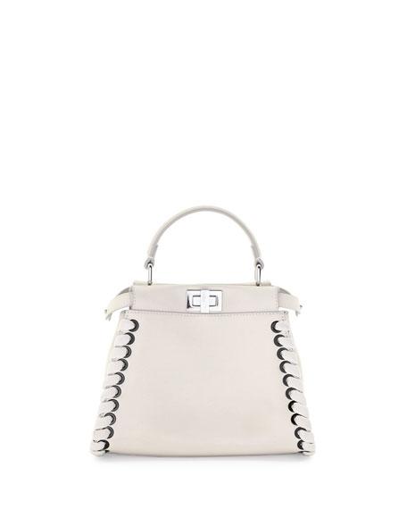 Fendi Mini Peekaboo Whipstitched Satchel Bag a89a8c01d21c1
