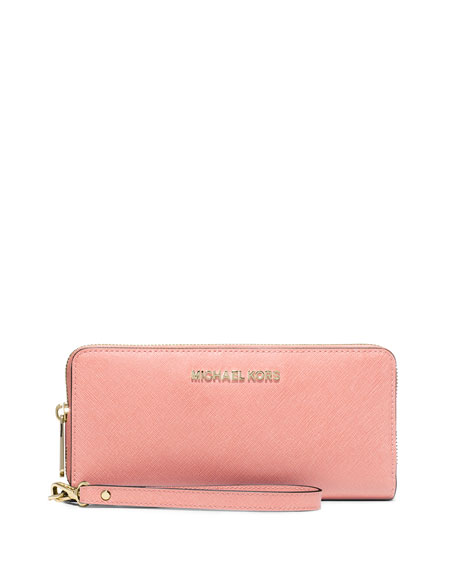fa5b8a5763b6 MICHAEL Michael Kors Jet Set Travel Continental Wallet, Pale Pink