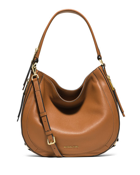 Julia Medium Leather Convertible Shoulder Bag Acorn