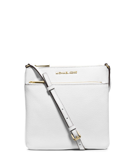 9fc60498d97e MICHAEL Michael Kors Riley Leather Crossbody Bag, Optic White