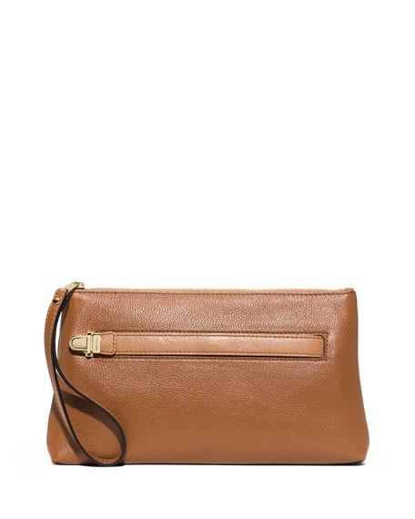 caea98d972864c MICHAEL Michael Kors Charlton Medium Leather Wristlet Clutch Bag, Acorn