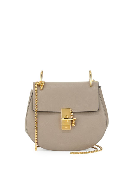a50530353e897 Chloe Drew Small Chain Saddle Bag, Motty Gray