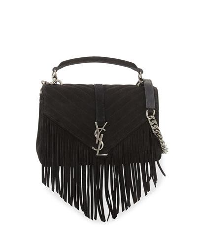 ysl clutch replica uk - anita mini flat shoulder bag w/fringe, tan