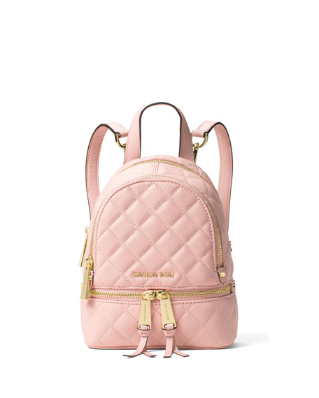 d605a67894df12 MICHAEL Michael Kors Rhea XS Quilted Messenger Backpack, Blossom