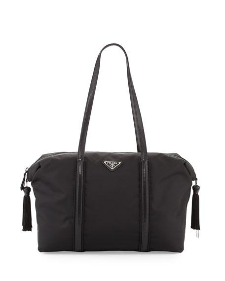 logo tote bag - Black Prada 8CJk3xKNEH