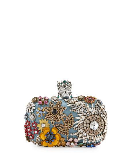 skull clutch bag - Blue Alexander McQueen fm2Gg