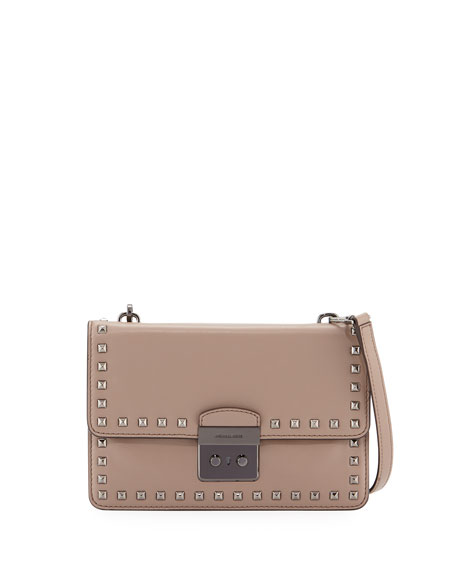 8e92cc5492ce MICHAEL Michael Kors Sloan Studded Large Gusset Crossbody Bag