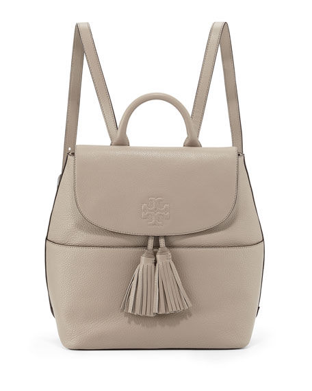d678e7113846 Tory Burch Thea Leather Tassel Backpack