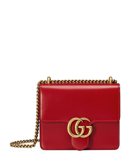 874e0cd9ab GG Marmont Small Leather Shoulder Bag Red