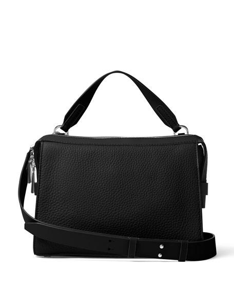 e3a4a7795462ff MICHAEL Michael Kors Ingrid Medium Leather Shoulder Bag, Black