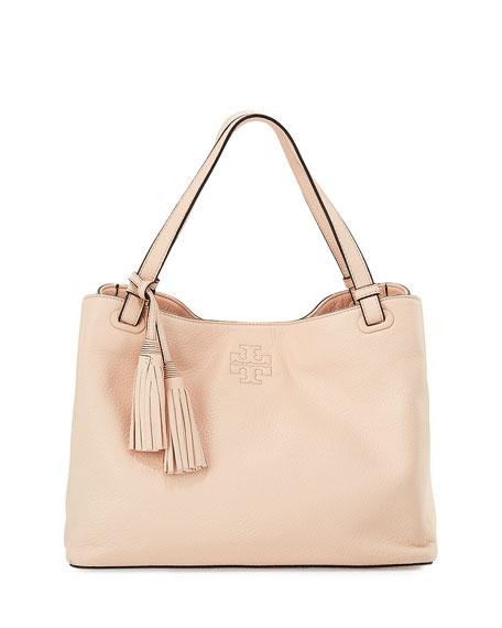 d709c25d2e9a Tory Burch Thea Center-Zip Tote Bag w  Tassels