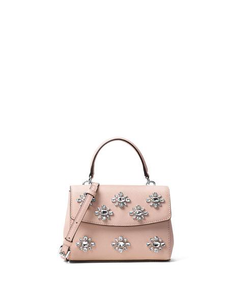 68c64c79b0c7 MICHAEL Michael Kors Ava Extra-Small Jeweled Crossbody Bag