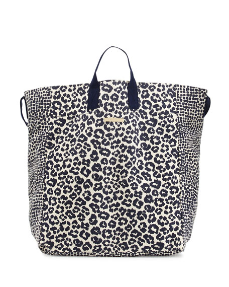 283521918750 Stella McCartney Animal-Print Canvas Beach Tote Bag