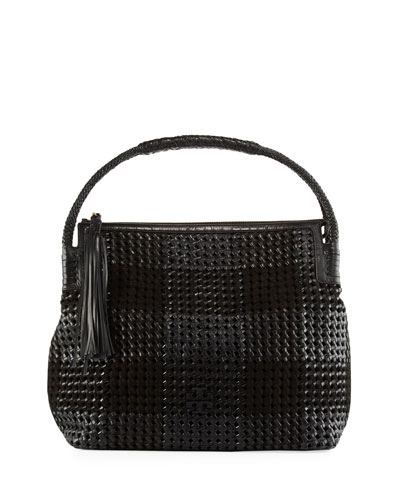 Taylor Woven Patchwork Hobo Bag