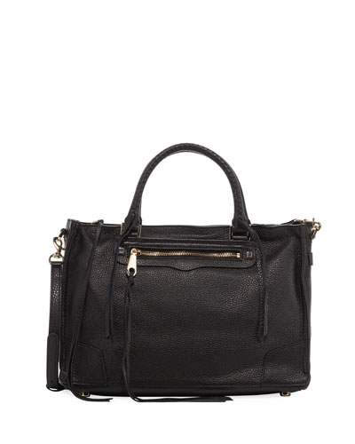 Regan Satchel Bag, Black