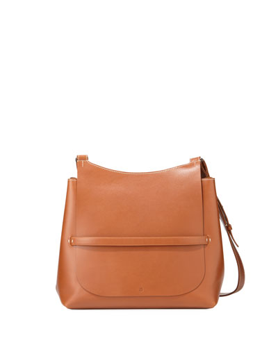 Sideby Smooth Leather Crossbody Bag