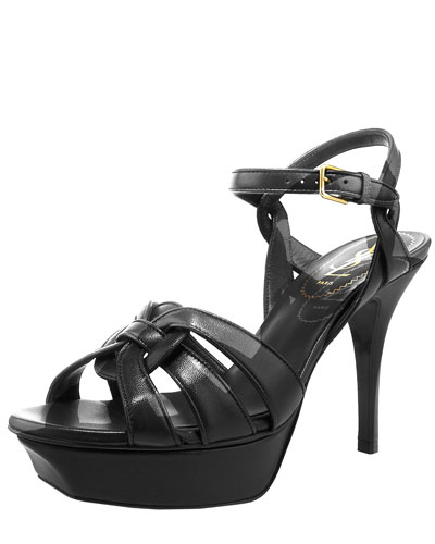 "Tribute Leather Sandal, 4"" Heel"