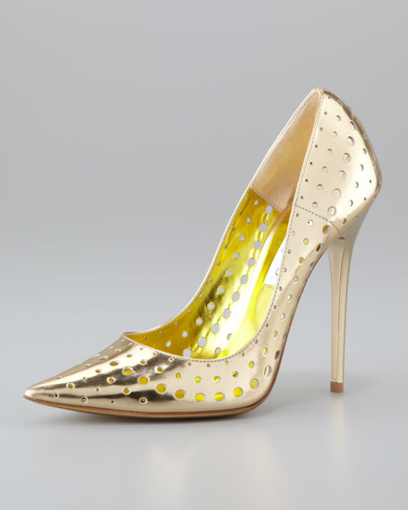 Jimmy Choo Perforated Leather Pumps cheap sale 2014 newest from china free shipping tjXDZbGaJ