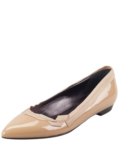 Lanvin Patent Leather Pointed-Toe Flats 100% guaranteed online find great for sale buy cheap recommend aw6PHw