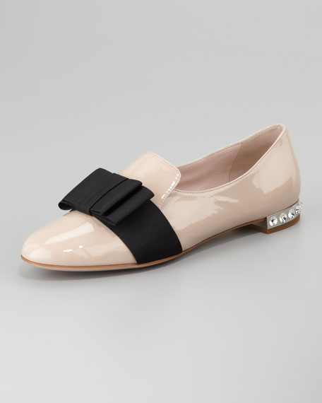 shopping online original Prada Patent Leather Bow Loafers footlocker pictures cheap price new styles buy cheap official site s09z7i