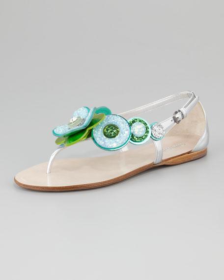Miu Miu Flower flat sandals 41nAk8
