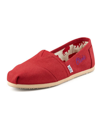 Personalized Classic Canvas Slip-On, Red